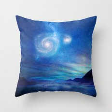 Poetry in the sky Throw Pillow
