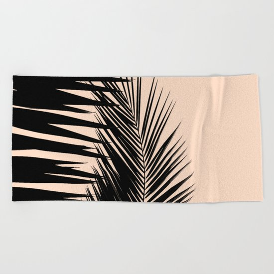 Palms on Pale Pink Beach Towel