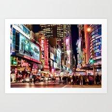 City Lights, the BIG apple! Art Print