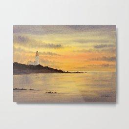 Turnberry Lighthouse Scotland Sunset Metal Print