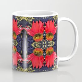 Red Cone Flowers Coffee Mug