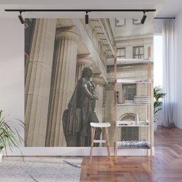 Federal Hall, New York City photo, George Washington statue, NY, NYC photography Wall Mural