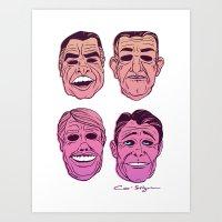 POINT BREAK  - The Ex Presidents Art Print