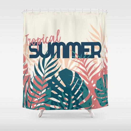 Tropical Summer Society6 Decor Buyart Shower Curtain By