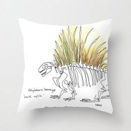 Earth Reptile Throw Pillow