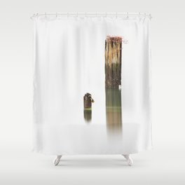 To Post Or Not To Post Shower Curtain
