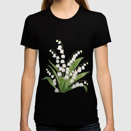 white lily of valley T-shirt