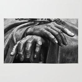 Hands of Wisdom - Black & White Rug