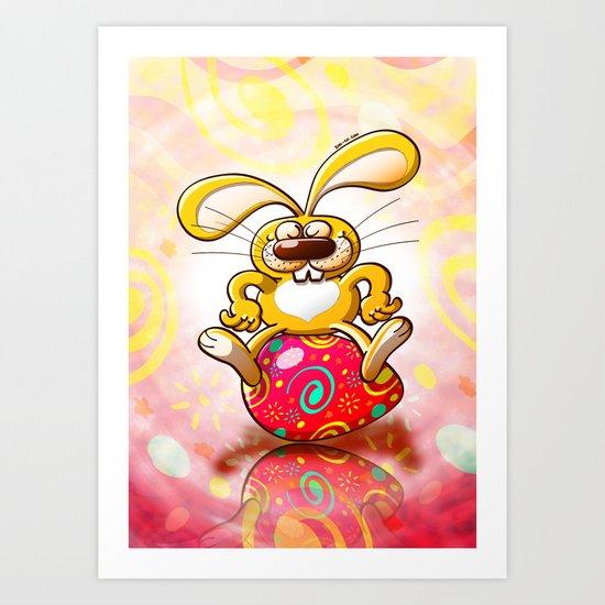 Proud Easter Bunny Art Print