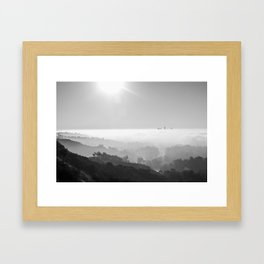Above The Clouds | Los Angeles | Black & White Framed Art Print