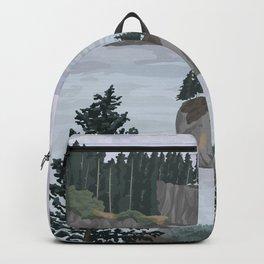 Olympic National Park Poster, Washington, illustrated National Parks USA Backpack
