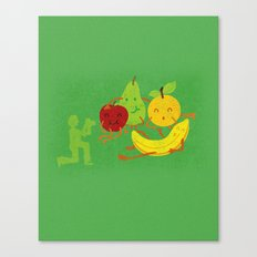 In the photo of still life, all we are happy Canvas Print