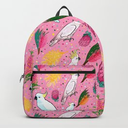 Australian Native Florals and Birds - Pretty in Pink Backpack