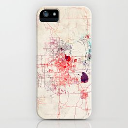 Lakewood map Colorado painting iPhone Case