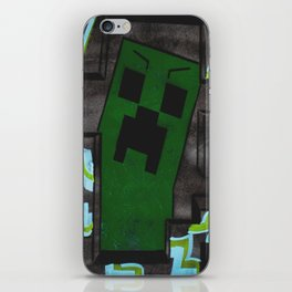 8bit Creeper Spray Painting iPhone Skin