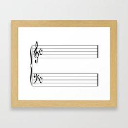 Blank Music Stave Framed Art Print