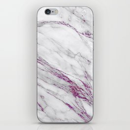 Gray and Ultra Violet Marble Agate iPhone Skin