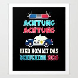 School enrolment police school child school Art Print
