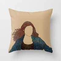 amy pond Throw Pillows featuring The Girl Who Waited, Amy Pond by Diddly's Shop