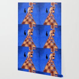 Disrupted Egg Path On Blue Wallpaper