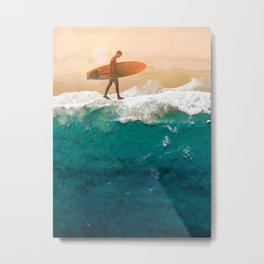 Wave Walking Metal Print
