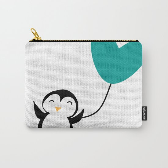 Penguin in love White Carry-All Pouch