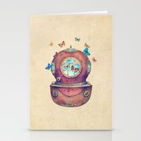 french Stationery Cards featuring Inner Space by Terry Fan
