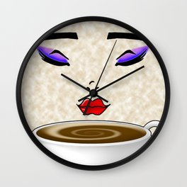 Coffee Lady Wall Clock