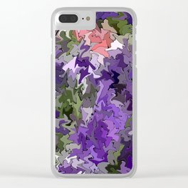 Glitchy Land.... Clear iPhone Case