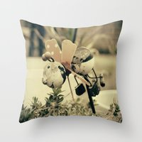 ladybug Throw Pillows featuring Ladybug by Truly Juel