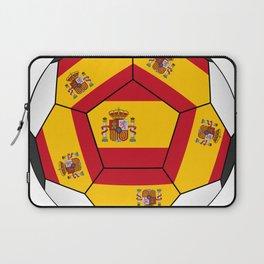 Soccer ball with Spanish flag Laptop Sleeve