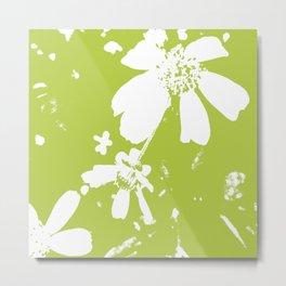 Lime Flower Metal Print