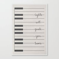 coldplay Canvas Prints featuring Piano Fix You lyrics by Daniel Devoy