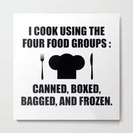 Four Food Groups Metal Print