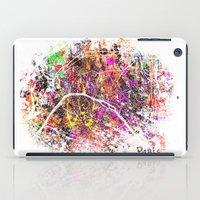 paris map iPad Cases featuring Paris by Nicksman