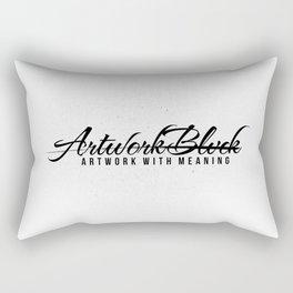 Vrtwork Blvck White Rectangular Pillow