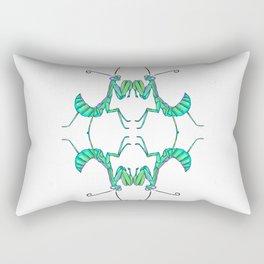 The Quad in Green Rectangular Pillow