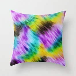 Rainbow furs Throw Pillow