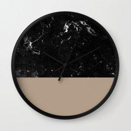 Sepia Meets Black Marble #1 #decor #art #society6 Wall Clock