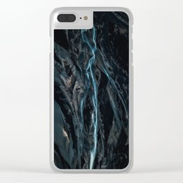 Abstract River in Iceland - Landscape Photography Clear iPhone Case