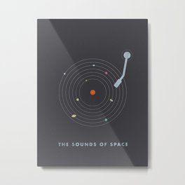 The Sounds of Space Metal Print