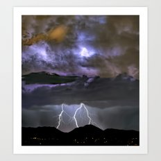 Monsoon Uplink Art Print
