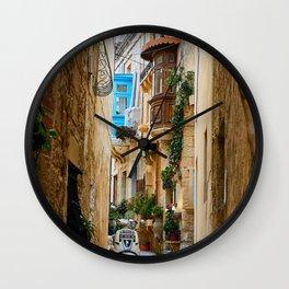 Alley,Italian street,village,countryside art Wall Clock