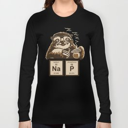 Chemistry sloth discovered nap Long Sleeve T-shirt