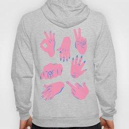 trans hands Hoody
