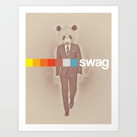 swag Art Prints featuring Swag by Mr.Royal