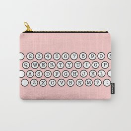 Typewriter Keys - Pink Carry-All Pouch