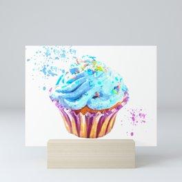 Cupcake watercolor illustration Mini Art Print