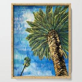 PALM TREE PARADISE   Landscape Painting   Wall Art   Beach Decor   Original Art Serving Tray