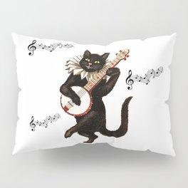 Cute Vintage Dancing Cat Pillow Sham
